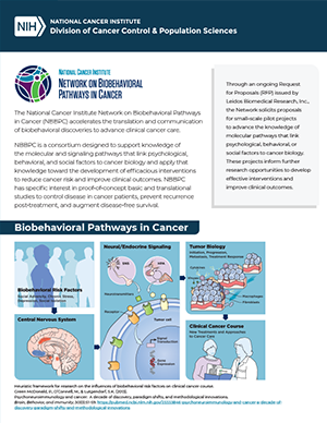 National Cancer Institute - Network on Biobehavioral Pathways in Cancer