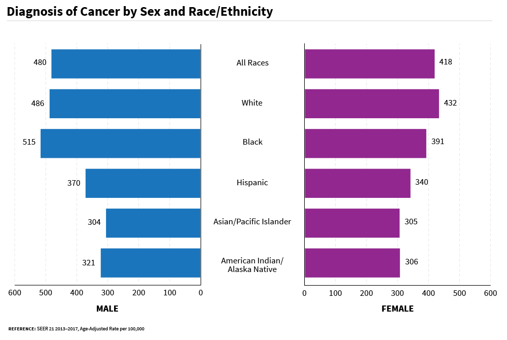 Rates of New Cancer Cases by Sex and Race/Ethnicity